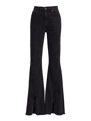 7 For All Mankind high-rise exaggerated kick flare slit-hem jeans
