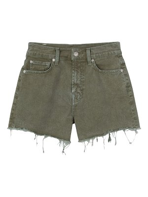 7 For All Mankind high-rise fray hem shorts