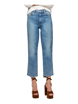 7 For All Mankind High-Waist Cropped Straight-Leg Jeans