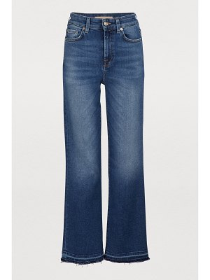 7 For All Mankind High-waisted cropped flared jeans