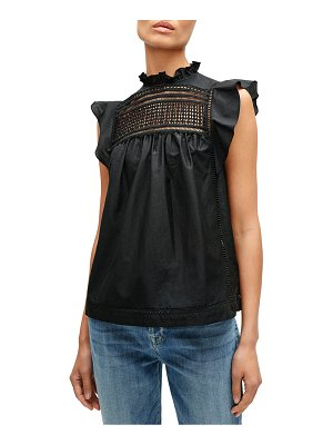 7 For All Mankind lace yoke top