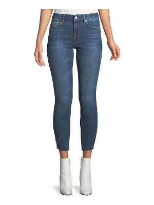 7 For All Mankind Mid-Rise Ankle Skinny Leg Jeans with Reverse Side Panel
