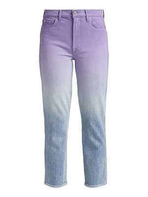 7 For All Mankind ombré straight leg jeans