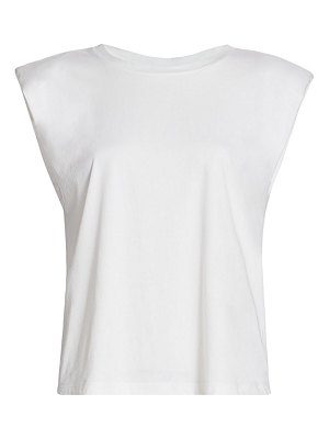 7 For All Mankind padded shoulder t-shirt