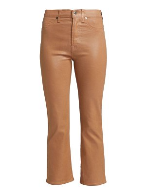 7 For All Mankind penny coated high-rise slim kick jeans
