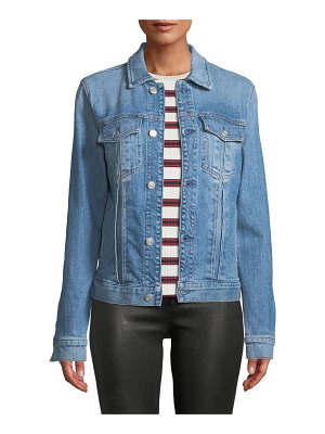 7 For All Mankind Slim Classic Button-Front Denim Jacket