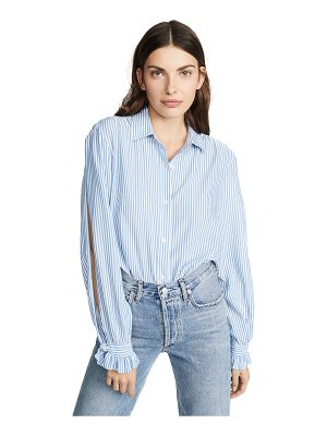 7 For All Mankind split sleeve top