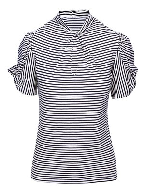 7 For All Mankind stripe twist-neck t-shirt
