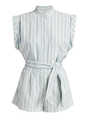 7 For All Mankind striped pleated romper