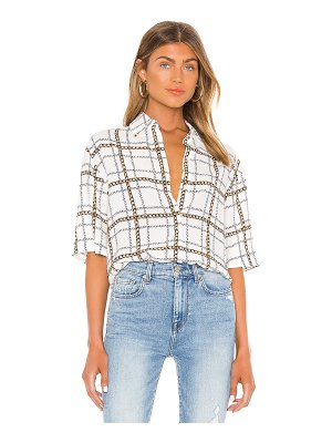 7 For All Mankind tie front short sleeve top