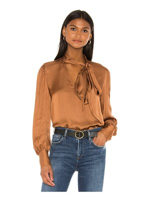 7 For All Mankind tie neck one sleeve top