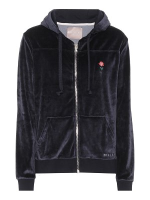 81hours hooded velvet zip jacket