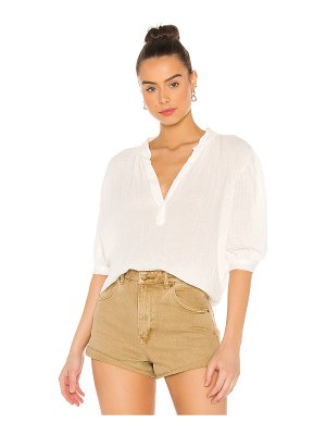 9 Seed biarritz puff sleeve top