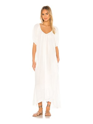 9 Seed sand hill cove puff sleeve midi dress