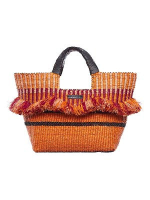 A A K S aaks baba berry raffia tote