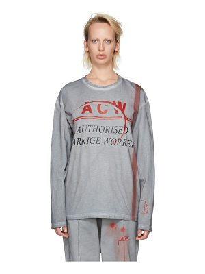 A-cold-wall* and Red Long Sleeve authorised Carrige Worker T-shirt