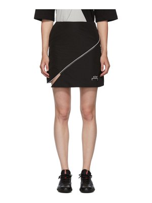 A-cold-wall* black piping split miniskirt