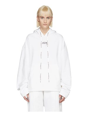 A-cold-wall* Exclusive White Logo Hoodie