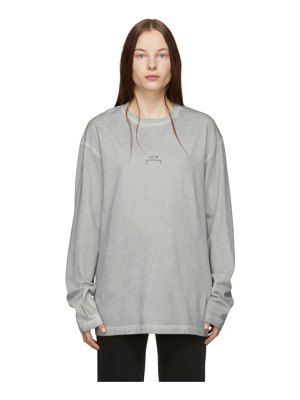A-cold-wall* grey bracket long sleeve t-shirt