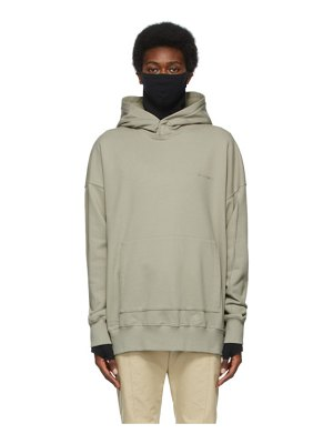 A-cold-wall* grey organic dissection hoodie