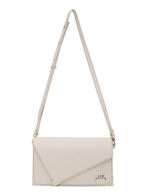 A-cold-wall* off-white leather mies clutch bag
