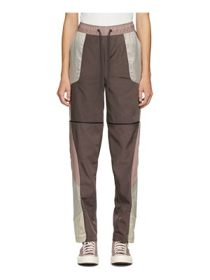 A-cold-wall* purple and beige converse edition panelled track pants