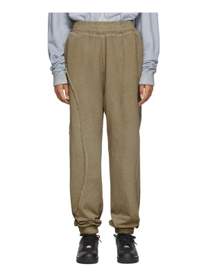 A-cold-wall* taupe restitch lounge pants