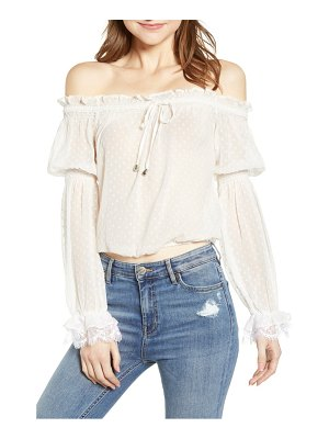 A LA PLAGE off the shoulder top
