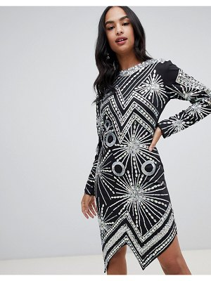 A Star Is Born midi dress with embellished silver pattern
