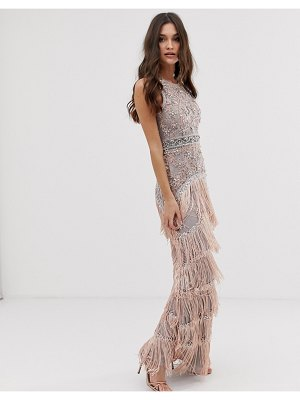 A Star Is Born tassel maxi dress with embellishment in pink