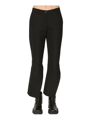 Aalto Twisted flared wool blend pants