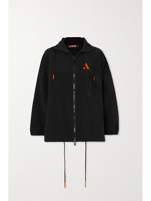 AARMY embroidered shell track jacket