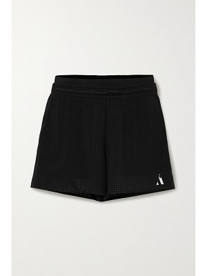 AARMY printed perforated stretch shorts