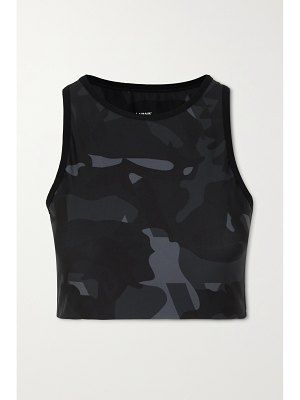 AARMY sierra cropped camouflage-print stretch tank