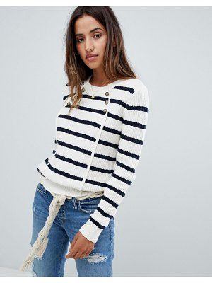 Abercrombie & Fitch button front stripe sweater
