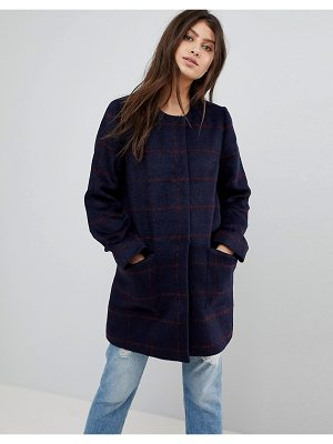 Abercrombie & Fitch Collarless Wool Coat
