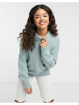Abercrombie & Fitch crewneck sweater in mint heather-green