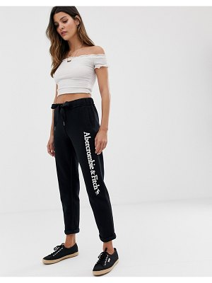 Abercrombie & Fitch cuffed sweatpants with leg logo