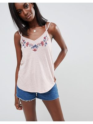 Abercrombie & Fitch Embroidered Tank