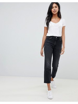 Abercrombie & Fitch high waisted cropped straight leg jean