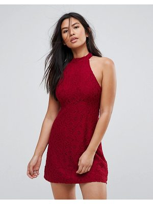 Abercrombie & Fitch Lace Halterneck Mini Dress