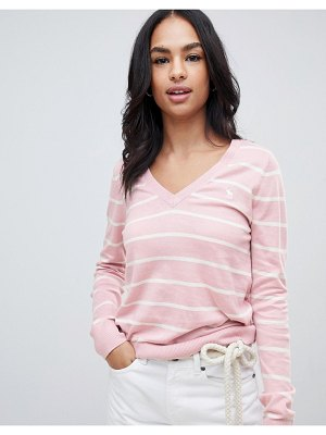 Abercrombie & Fitch moose stripe lightweight sweater