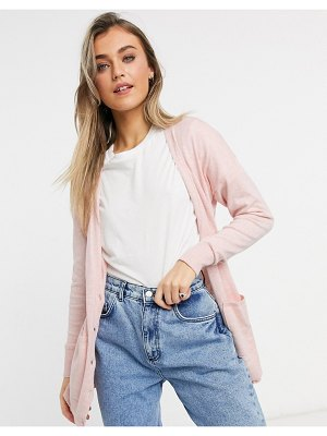 Abercrombie & Fitch pocket cardigan in light pink