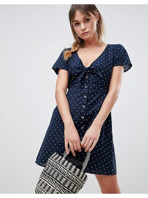 Abercrombie & Fitch Polka Dot Dress with Knot Front