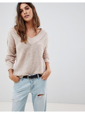 Abercrombie & Fitch v neck cropped knit
