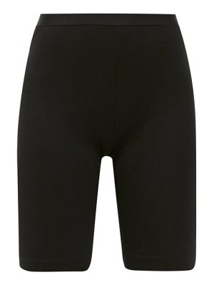 About high-rise jersey cycling shorts