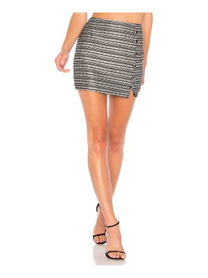 About Us Amy Button Up Mini Skirt
