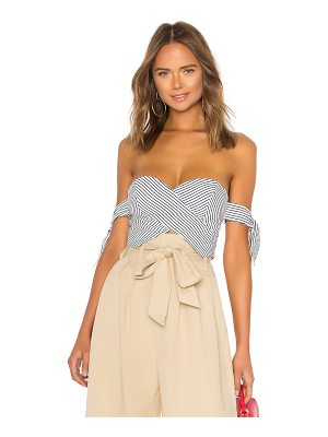 About Us Beatrice Striped Tie Sleeve Corset