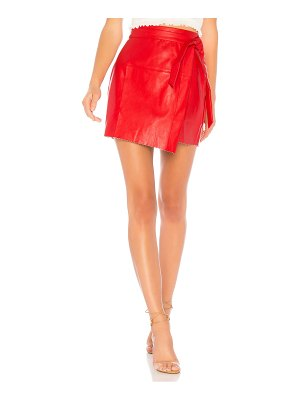About Us Jazzy Faux Leather Wrap Skirt
