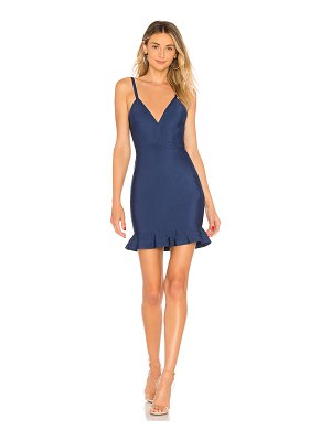 superdown marin ruffle bandage mini dress